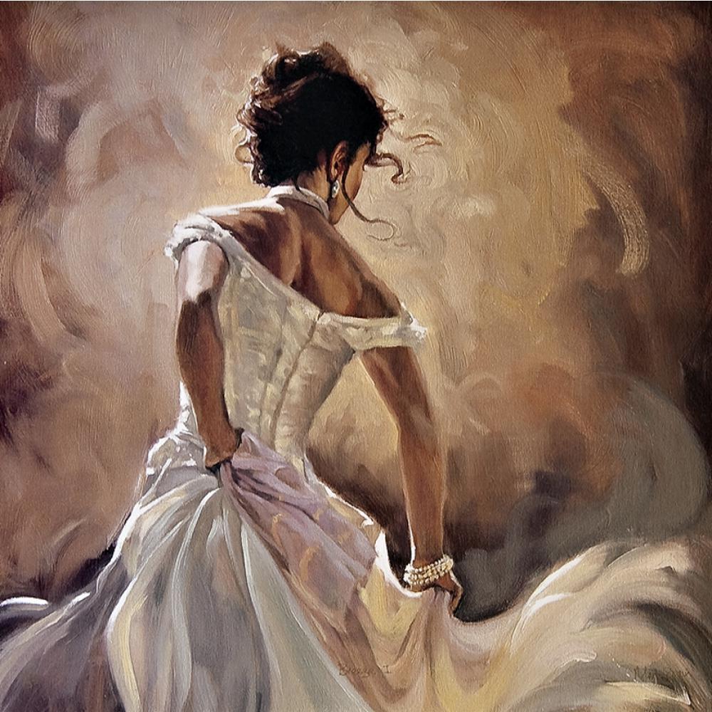 Oil art portrait paintings for living room Dancer on white hand-painted modern artOil art portrait paintings for living room Dancer on white hand-painted modern art
