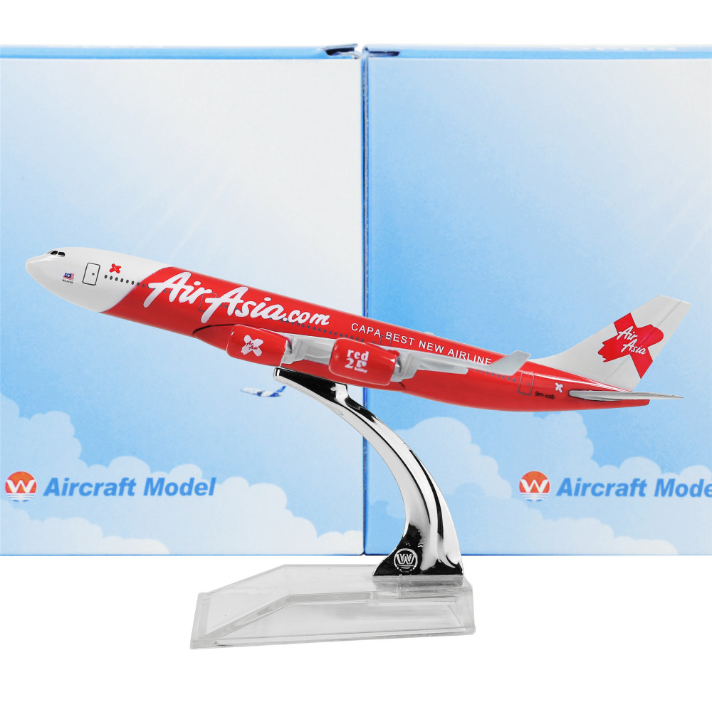 Air Asia X DIECAST plane model Airbus A340 16cm 1:400 airplane models  COLLECTION FEO