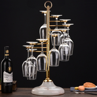Iron creative red wine glass holder wine glass holder goblet rack upside down hanging cup holder wx6271005