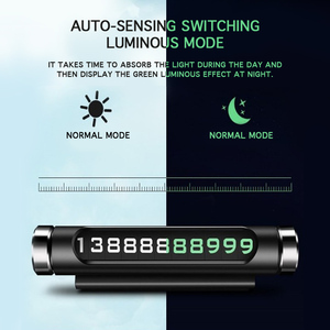 Image 4 - Tarjeta giratoria para estacionamiento temporal de coche, diseño de adsorción magnética para matrícula de teléfono