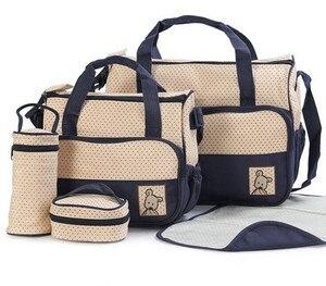 Image 5 - MOTOHOOD 39*28,5*17 см, 5 шт., сумка для подгузников для мамы, держатель для детской бутылочки, Мамины коляски, наборы сумок для подгузников для беременных