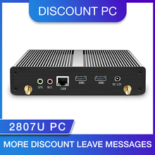 Low Consumption PC Celeron N2807 Dual HDMI Fanless Mini PC Windows PC Windows 7 Mini Computer WIFI USB 1.58ghz
