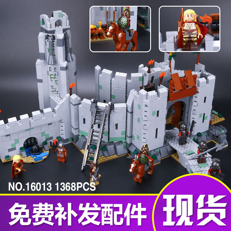 LEPIN 16013 The Lord of the Rings Series The Battle Of Helm' Deep Model Building Block Bricks figures Compatible 9474 hot sale lepin 16018 756pcs genuine the lord of rings series the ghost pirate ship set building block brick toys compatible legoed 79008