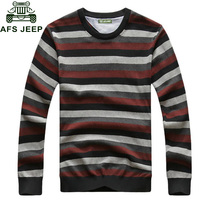 Afs Jeep 2017 Autumn New Design Sweater Men Military Vintage Mens Knitted Wear Striped Pullovers Warm