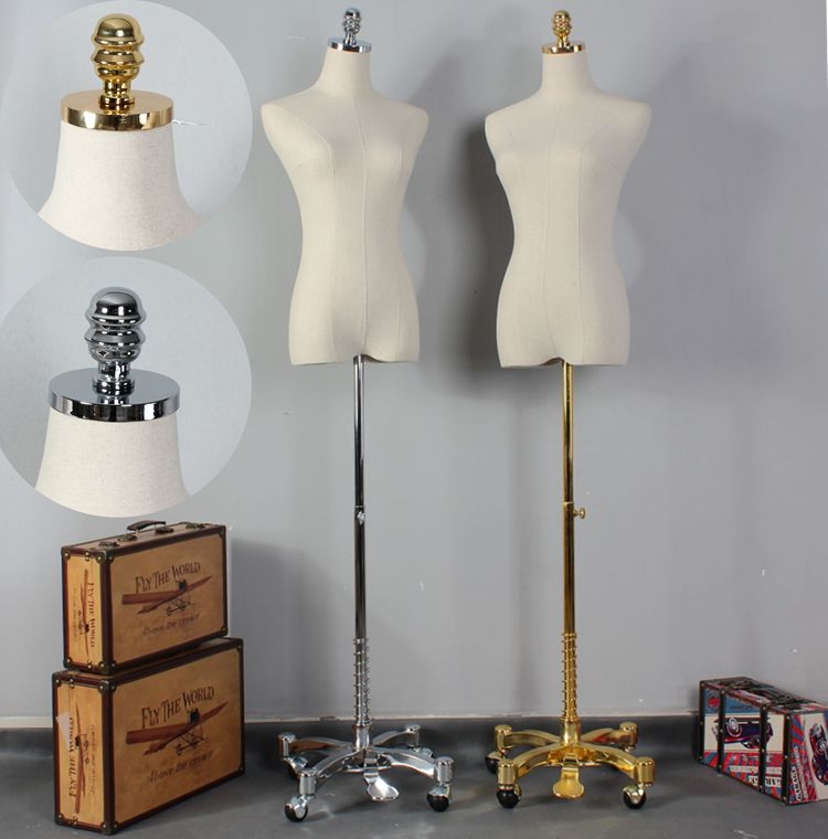 Haut Niveau Recouvert de Tissu Femelle Demi-Corps Mannequin Mannequin Mannequin Vêtements Affichage