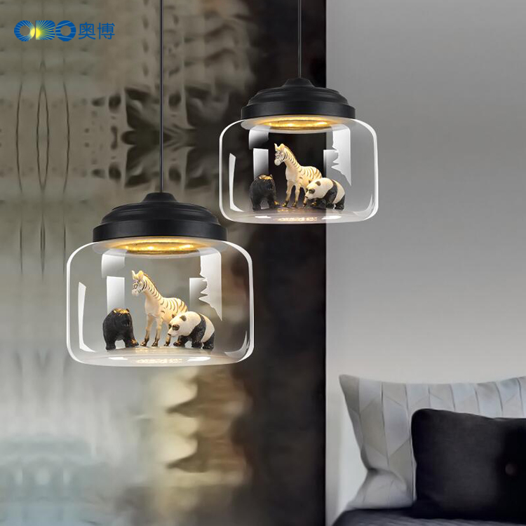 Pendant Lights Sitting Room Animal Model Transparent Glass Pendant Lamps Creative Personality Cafe Bedroom Glass Pendant LampPendant Lights Sitting Room Animal Model Transparent Glass Pendant Lamps Creative Personality Cafe Bedroom Glass Pendant Lamp