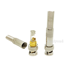 Free Shipping 10pcs/lot BNC Male Video Plug Coupler Connector to screw for RG59 video bnc adapter for cctv 10pcs bnc male plug for rg59 coaxial cable bnc connector adapter female 3 piece crimp connector rg59 coupler for cctv camera