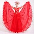 Grande vestido de para coro traje vestido del baile etapa con Headwear Red nacional traje de niña ropa 16
