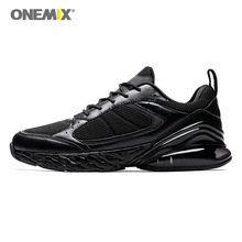 Men Running Shoes - ONEMIX Zapatos De Hombre Breathable Mesh Soft Midsole Air Cushioning Outdoor Jogging Sneakers Max 12.5