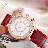 SHENGKE Top Brand Wristwatches 2017 Fashion Quartz Watch Women Watches Ladies Girls Female Clock Montre Femme