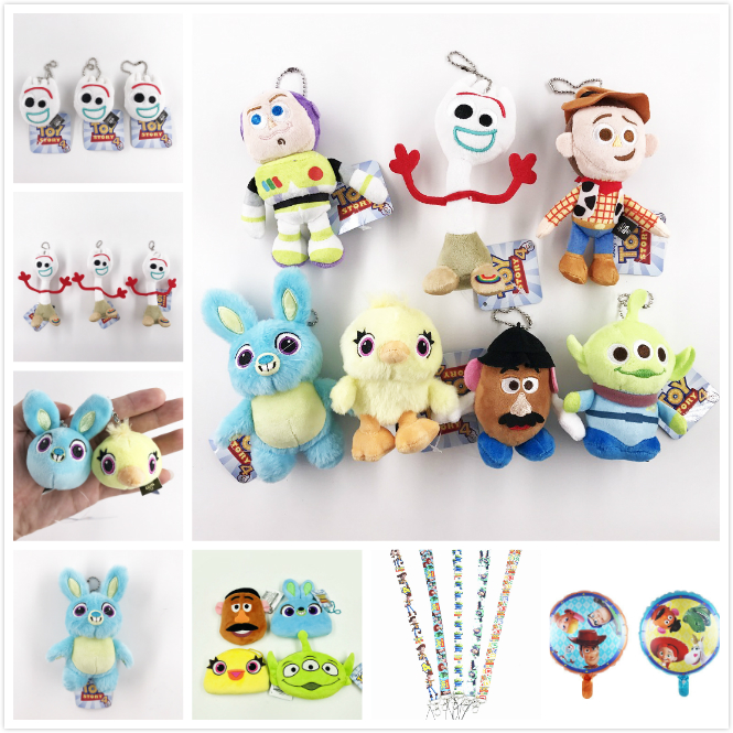 2019 Movie Toy Story 4 Plush Toys Forky Bunny Alien Buzz Lightyear Soft Plush Stuffed Doll Figure Cartoon Toy Children Kids Gift toy story bunny toys