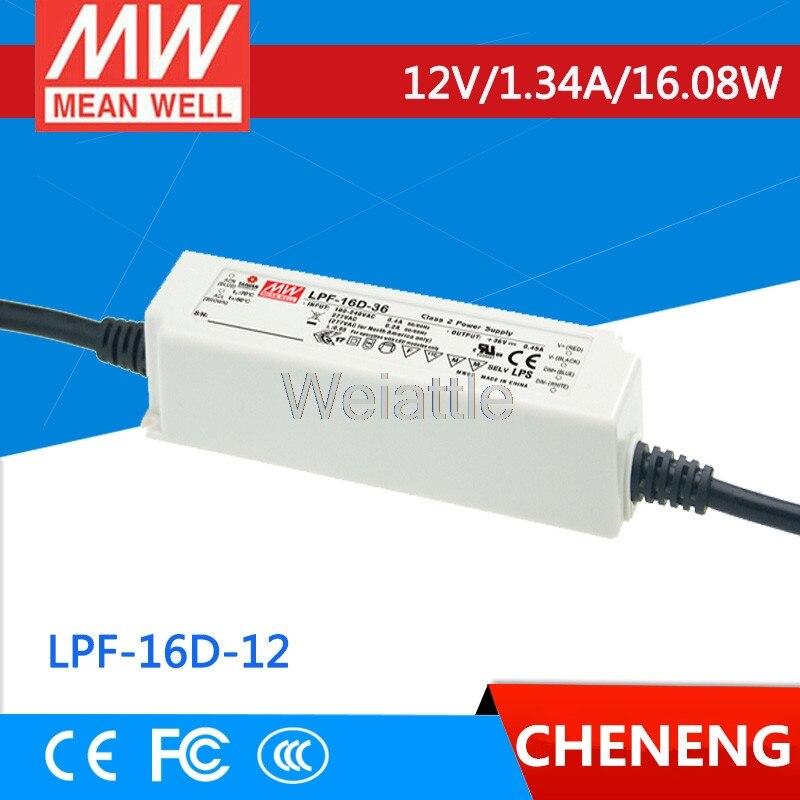 Moyenne bien original LPF-16D-12 12 V 1.34A meanwell LPF-16D 12 V 16.08 W unique sortie commutateur de courant LEDMoyenne bien original LPF-16D-12 12 V 1.34A meanwell LPF-16D 12 V 16.08 W unique sortie commutateur de courant LED