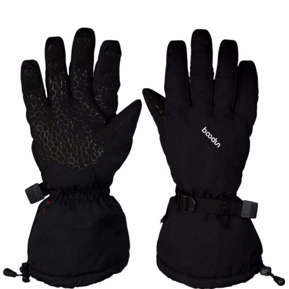 Boodun New Winter Thermal Extended Cuff Ski Gloves Large Size Waterproof Snowboard Glove Cycling Skiing Motorcycle Snowboarding