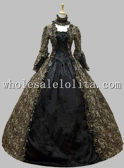Georgian victorian gothic period dress prom gown wedding for Period style wedding dresses