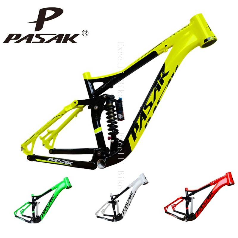 4-7005 Aluminum Alloy Cycling Frame Soft-tail Frame Full Suspension Downhill Mountain Bike26 27.5 Frame For Disc Oil Brake for 21 speeds31