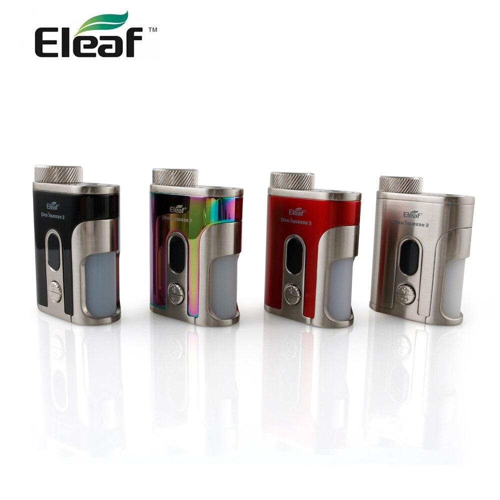 En STOCK Original Eleaf iStick Pico presser 2 Mod boîte avec Squonker bouteille 8 ml MOD 100 W sortie électronique cigarette vape mod boîte