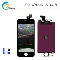 ET Super 1pcs No Dead Pixel For IPhone 5 LCD Display With Touch Screen Digitizer Assembly