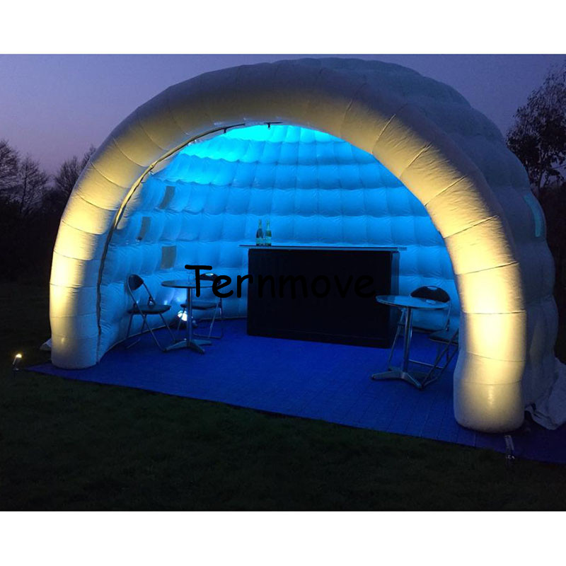 Inflatable Luna tent for Trade show Event Party Promotion Exhibition White portable outdoor dome inflatable bar tent white blow up igloo dome inflatable tent product for promotion