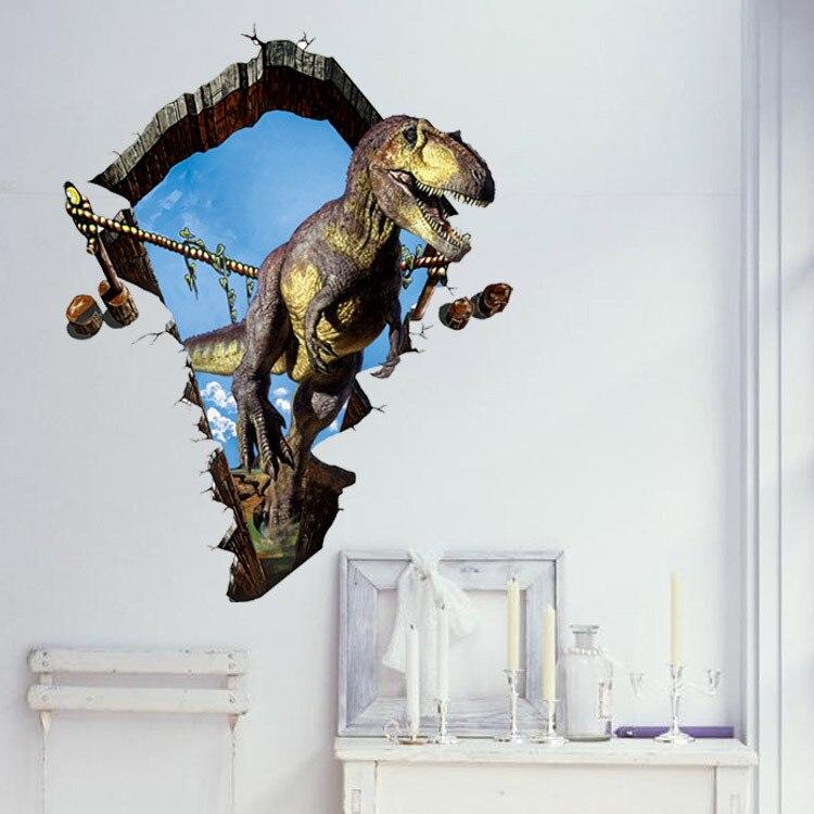 new dinosaur cartoon 3d wall stickers animals for kids rooms decor