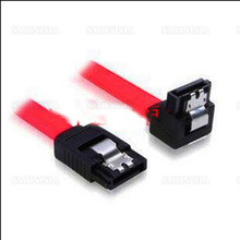 10pcs- 500pcs Sata Data Cable With Shrapnel Hard Disk Connecting Wire 1m 90 Degree One Straight One Elbow