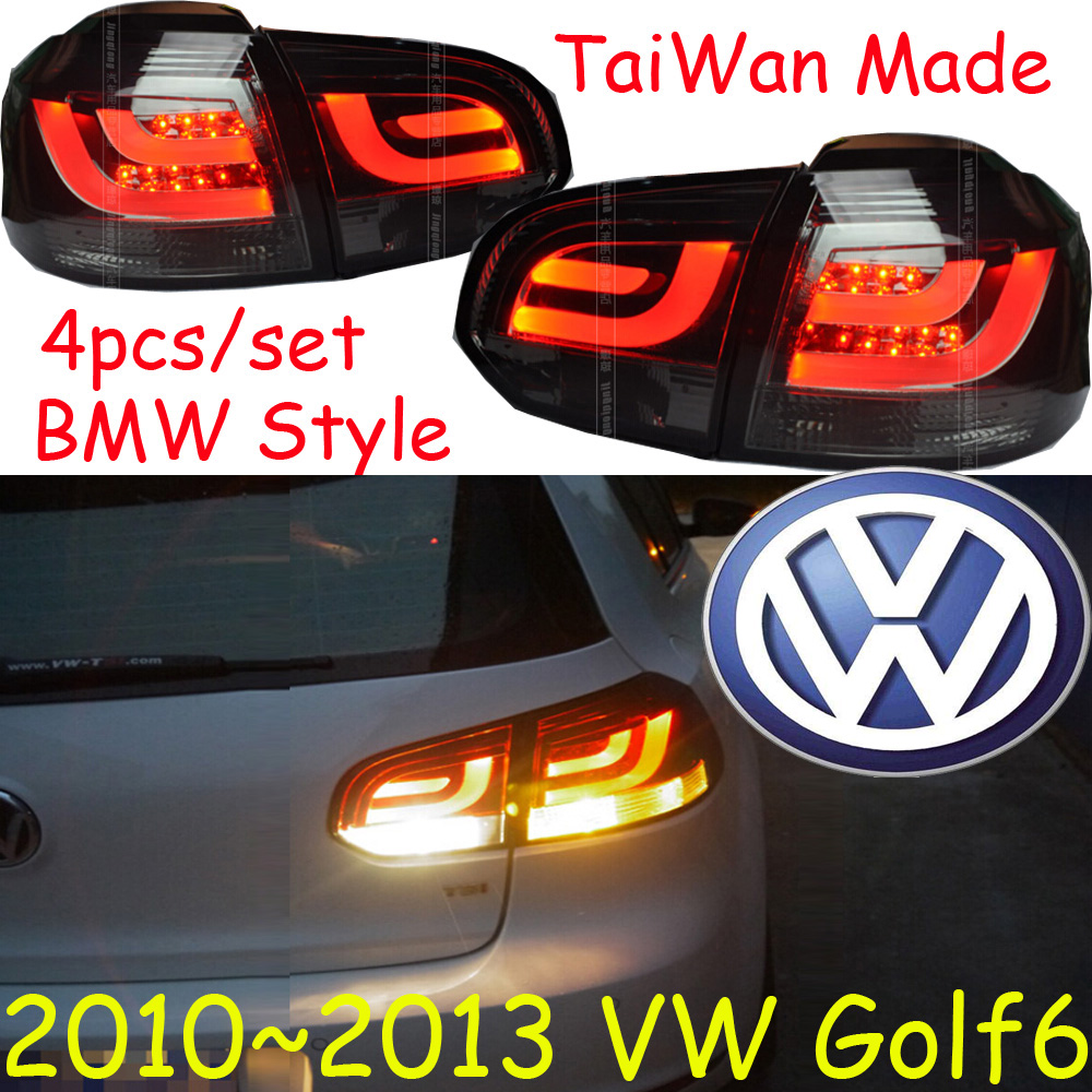Golf6 taillight,2010~2013;Free ship!LED,4pcs/set,Golf6 rear light,Golf6 fog light;Touareg,Polo,Golf7,Golf 6 2011 2013 vw golf6 daytime light free ship led vw golf6 fog light 2ps set vw golf 6