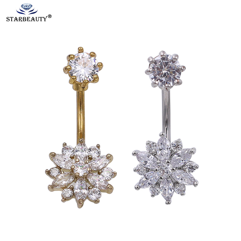 top 10 flower belly navel ring brands and get free shipping - 1698fhl0