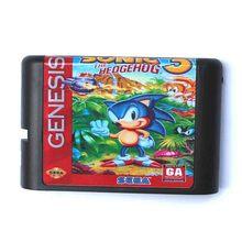 Sonic The Hedgehog 3 16 bit MD Sport Card For Sega Mega Drive For Genesis