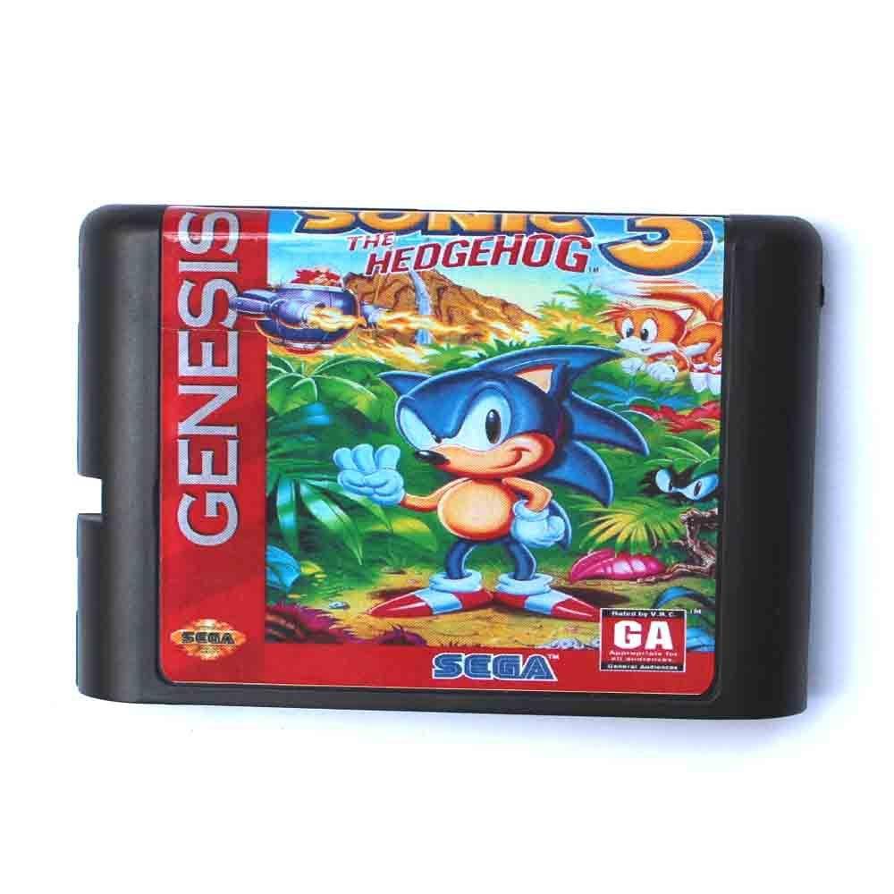 Sonic le hérisson 3 carte de jeu 16 bits MD pour Sega Mega Drive pour Genesis