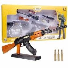 1:3. 5 ak47 arma modelo de metal diy estática decoração não pode atirar presente das crianças