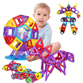 Мин 86 ШТ. Магнитного Строительные Блоки для Детей Игрушки Развивающие Пластиковые Кирпичи Геометрические узоры Блоки