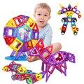 Min 86 UNIDS Magnética Bloques de Construcción para Niños Juguetes Educativos Ladrillos De Plástico Bloques de patrones Geométricos
