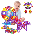 Min 86PCS  Magnetic  Building Blocks for Kids Toys Educational Plastic Bricks Geometric patterns Blocks