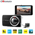 Gotomato Dual Lens Dash Cam Full HD 1080P 4.0 Inch IPS Screen Novatek 96658 Chip Dual Camera Car DVR 170 Degree Wide Lens H.264