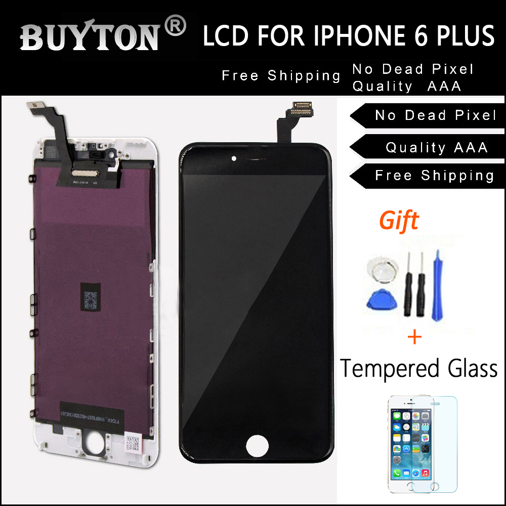 BUYTON 100%Brand New AAA+ LCD For iPhone 6P 5.5 inch Display Touch Screen Digitizer Assembly with Touch Screen +Gift