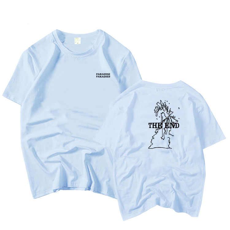 Kpop gfriend sinb dezelfde paradise de end printing o hals korte mouw t-shirt zomer mannen woment t-shirt koreaanse stijl minnaar tees