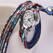 2016 Fashion Women Watches Colorful Bracelet Watch Women Diamond Wristwatches Relogio Quartz Casual Female Bracelets Watches