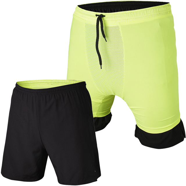 Vansydical men fitness exercise boxer shorts quick dry with mesh lining