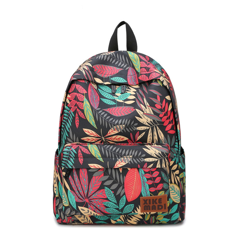 Brand Women Backpacks For Teenage Girls Floral Printed School Bags Travel Leisure Laptop Backpack Female Canvas Backpacks canvas floral print backpacks shoulder bags for girls school bags black summer brand vintage backpack mochilas mujer d38j16