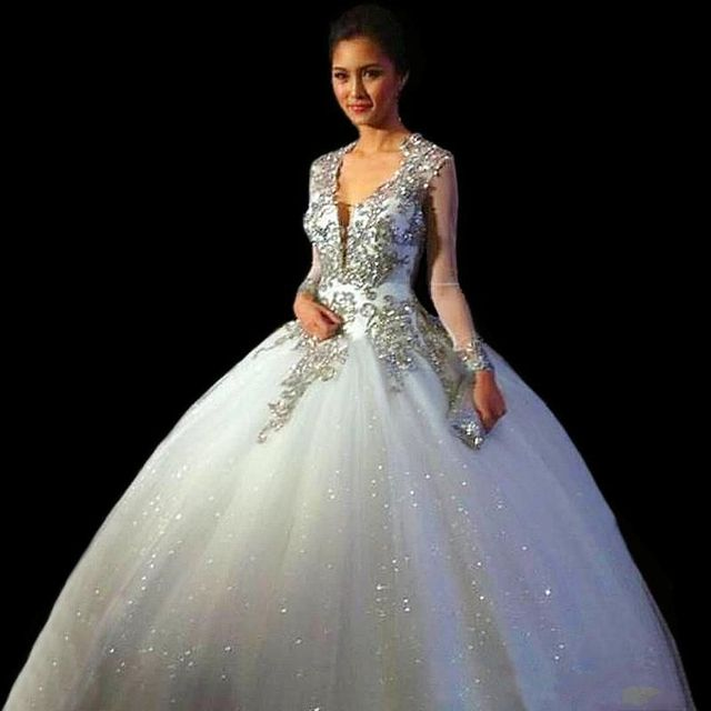 68abe9e87e8 Vestidos De Quinceañeras 2015 Nuevo Cuello En V Vestidos de Quinceañera  Dulce 16 vestido de Bola
