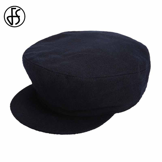 bbfece87c0a ... promo code for fs vintage beret french artist beanie hat fashion navy  blue octagonal cap for