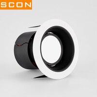 SCON Anti glare COB Downlight 7W 12W Recessed Ceiling Flood Lights Cutout hole 8cm