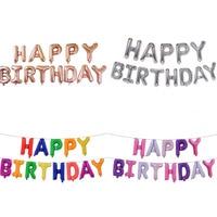 BP Happy birthday party decorations kids letter BP 6 inch rose gold imitation beauty thin aluminum balloon JJ QQ7