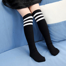 CN-RUBR New Fashion Baby Socks Soft Cotton Striped Newborn Socks Children Clothing 5 Color Knee Girl Meias Infant Accessories