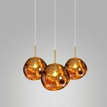 Modern Pendant Lamp Lava Glass Ball Mirror Reading Study Pendant Light Art Bedroom Bar Living Room Decor Kitchen Hanging Lamps mirror ball pendant lamp modern glass suspension light dinning room living room bar light chandelier