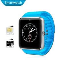 Gt08 electrónica bluetooth cámara del teléfono smart watch smartwatch android reproductor de mp3 a prueba de agua relojes de la tarjeta sim de salud deporte reloj