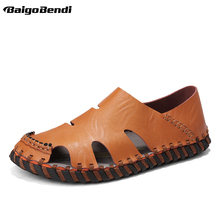 US Size Fishermen Close Toe Breathable Sandals Light Weight White Man Summer Slides Beach Shoes Casual