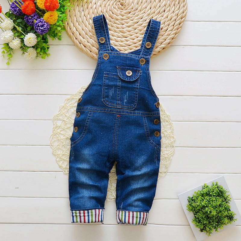 DIIMUU 2018 Boys Jeans Trousers Long Pants Solid Toddler Kids Baby Boy Clothing Overalls Elastic Waist Clothes Infant Children