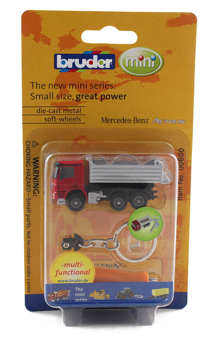Keyring Bruder MB Actros Dump Truck with keyring and Screwdriver alloy model Car Diecast Metal Toys Birthday Gift For Kids Boy
