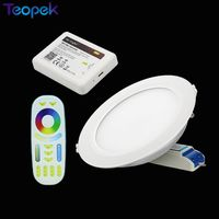 Mi.Light 12W RGB + CCT LED Downlight Dimmable with Driver FUT066 +2.4G Wireless RF 4 Zone RGB+CCT Touch Remote+WL Box1 Wifi|led downlight dimmable|downlight dimmableled downlight -