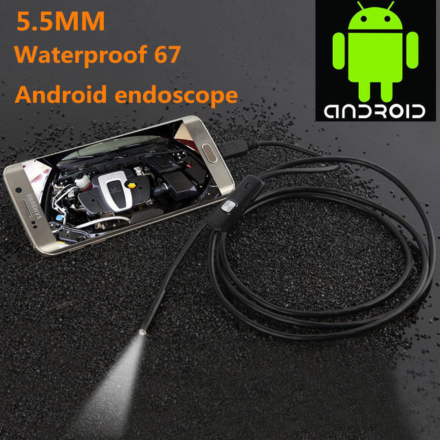6 LED 5.5mm 720P USB Wire WaterProof Endoscope Camera For Smartphone Android High resolution with 1/9 CMOS camera